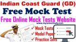 [FREE MOCK TEST-1] INDIAN COAST GUARD (GD) ENGLISH